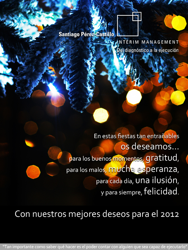 Felices Fiestas de parte del Blog sobre Interim Management Valencia
